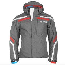 Colmar Herren Ski Winter Snowboard Jacke Grau Rot Größe M 48 Neu mit Etikett