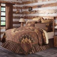 Prescott Quilt Collection Rustic Primitive Shams Pillows Skirt Window Vhc