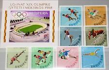ALBANIA ALBANIEN 1968 1306-13 B Block 33 B 1177-85 Olympics Mexico Sport MNH