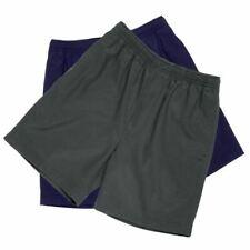 BNWT Boys Sz 8 LW Reid Brand Dark Grey Gaberdine Elastic Waist School Shorts