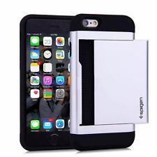 SILVER iPhone Samsung Slide Wallet Case Credit Card Hidden Pocket ID CS + GLASS