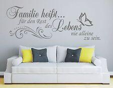 X47 Wandtattoo Spruch / Familie heißt den Restdes Lebens Family Wandaufkleber 1