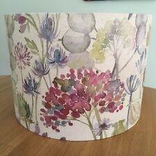 Lampshade Handmade Voyage Hedgerow Linen Fabric Seedheads Alliums Pink Purple