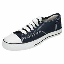 chicos y chicas x0001 Azul Marino Lona Zapatos de Spot On
