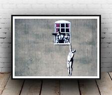Banksy : Window lovers street art Poster reproduction
