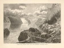 Canada Quebec Saguenay River Point Noir Cape Eternity 1873 Antique Art Print