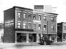 1900s Photo Reprint, Polish Industrial Bankers building, Salem MA