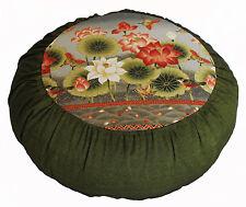 "Meditation Cushion Zafu Pillow Buddha's Flower ""Lotus Enlightenment"" Buckwheat"
