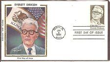 US SC# 1874 Everett M. Dirksen FDC . Colorano Silk Cachet.
