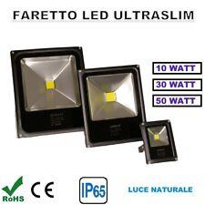 FARO FARETTO LED COB 10W  30W 50W  SLIM DA ESTERNO IP65 COLORE NERO