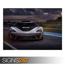 McLaren 650S GT3 coche de carrera (AB417) cartel de auto-arte cartel impresión A0 A1 A2 A3