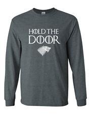 512 Hold the Door Long Sleeve Shirt funny hodor winterfell house stark game king
