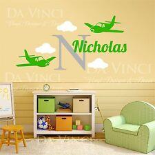 Airplanes Aircraft Planes Wall Custom Name Monogram Vinyl Wall Decal Sticker