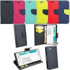 Housse etui coque pochette portefeuille pour Sony Xperia X Compact + film ecran