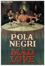 Mad Love Pola Negri vintage movie poster print