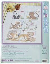 Dimensions Kit Point De Croix Imprimé, Couverture Bébés Animaux