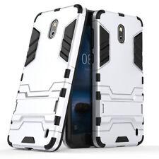 Für Nokia 2 Tasche Case Cover Outdoor Schutz Hülle Plastik Schale Armor Silber