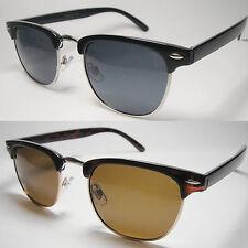 Polarized Half Frame Horn Rim Vintage Sun Glasses Multi-Color – 408PL