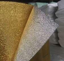 Double Side Grid Golden-Silver Foil EPE Foam Insulation - 5mm £3.25/sqm SAMPLE