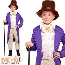c5b52aa28d0 Willy Wonka Chocolate Factory World Book Day Kids Fancy Dress Boys Child  Costume