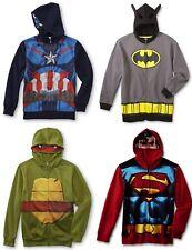 NEW Boys Hoodie Jacket Size 10/12 14/16 XL TMNT,Batman,Avengers Mask Costume NWT