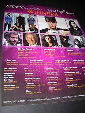 Foo Fighters Paul Epworth Skrillex Bon Iver others Grammy Promo Display Ad