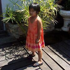 Girls Childrens Tie Dye Summer Beach Dress Cotton Age Range 1-6 Years