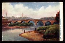 1907 tuck english bridge shrewsbury uk postcard