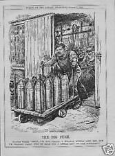 ORIGINAL 1916 HUMOROUS HISTORICAL PRINT . BIG PUSH !
