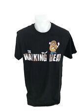 Mr. Potato Head The Walking Head Funny Mashup Zombie Men's T-Shirt Black Cotton
