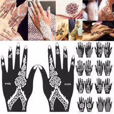 2d0e0b53f India Henna Temporary Tattoo Stencils Kit for Hand Arm Body Art Decal