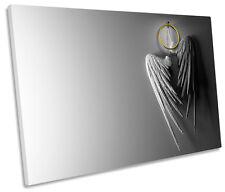 Angel Wings Halo Cloakroom SINGLE CANVAS WALL ART Framed Print