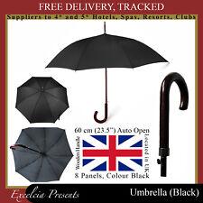 Schwarz Regenschirm Walker Geschenke, b&b, Hotels, Spa, Reise, groß