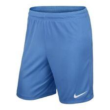 Nike Park II Knit Dri Fit Mens Adults Sports Football Casual Shorts Sky Blue