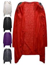Señoras Cardigan Cascada nuevo para mujer suéter liviano Verano UK 8 - 12