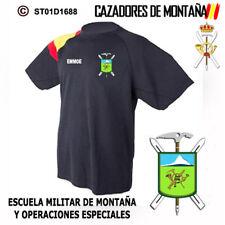 CAMISETAS TECNICAS CAZADORES DE MONTAÑA: EMMOE / ESCUDO GENERICO - ANTIGUO  M1