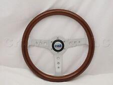 Sport Line 350 mm Wood Marine Boat Steering Wheel + Hub - Part # 30117 (WH)