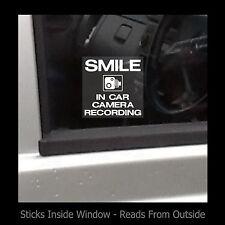 Smile-en coche cámara de grabación-Etiqueta De La Ventana/registro Seguridad/Cctv/coche