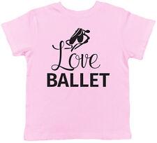 Love Ballet Childrens Kids Girls T-Shirt Dance Tee