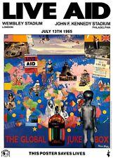 LIVE AID - Concert Poster - Wembley & Philadelphia 1985 - superb nostalgia -