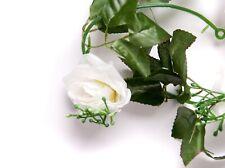 Best Artificial 7ft Ivory White Silk Rose Ivy Garland Hanging Bud Flower wedding