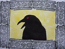 Bird Watching Crow Raven portrait pagan shaman Gothic mens t shirts Rabe