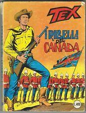 TEX - N.204 - I RIBELLI DEL CANADA - PRIMA EDIZIONE - 1977 - L.400