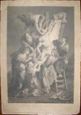 700'-RUBENS-PRO OMNIBUS MORTUUS EST CHRISTUS-CRISTO-ARTE SACRA-GRANDE INCISIONE