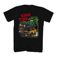 Rat Fink King Fink Men's Black T-shirt NEW Sizes S-2XL