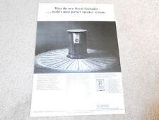 Empire Royal Grenadier Speaker Ad, 1966, 1 pg, Info, Article