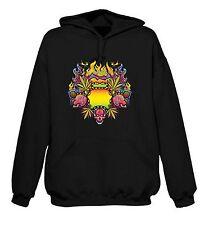 PSYCHEDELIC CANNABIS HOODY - Marijuana Ganja Spliff Rasta T-Shirt Bong