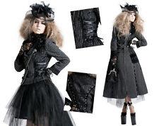 Manteau transformable veste robe gothique lolita fashion rayures dentelle corset