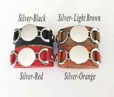 Holidays, Christmas gift -Personalized Leather Monogram , initials Bracelet