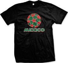 Mexico Star Soccer Ball- Futbol Mexican Pride  Mens T-shirt